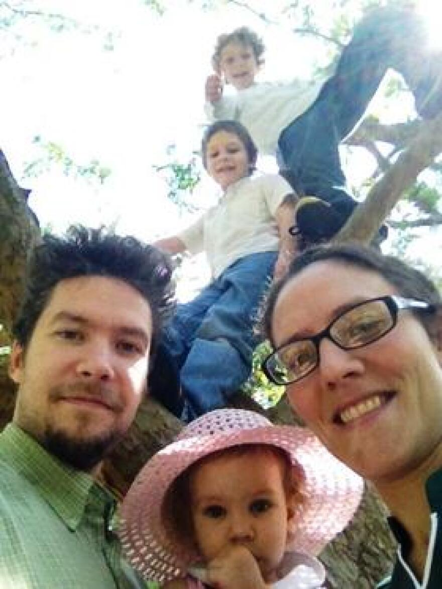David and Melanie Rogers of Tampa with their three children.
