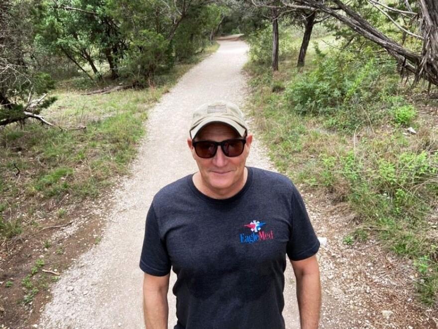 Simon Thornton on a trail at Friedrich Park.