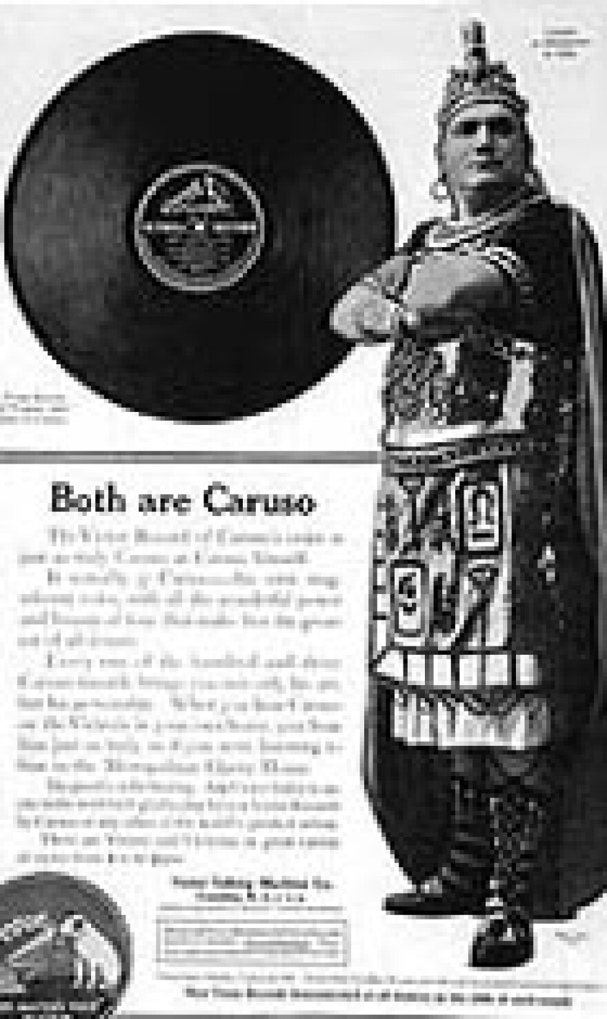 A Caruso advertisement for Victor Records.