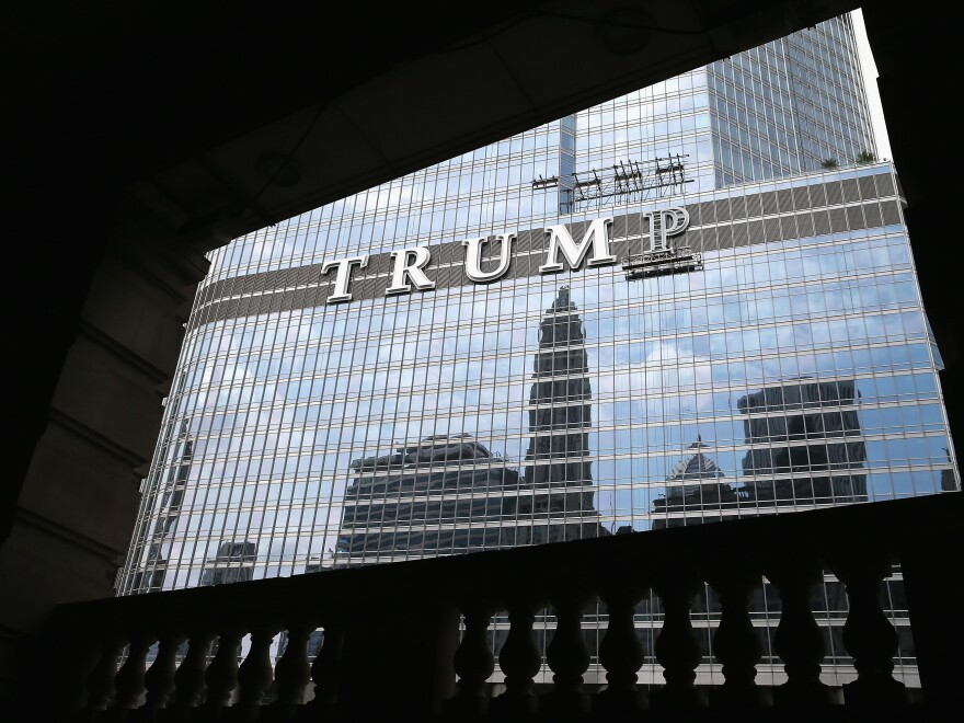 """<em>Forbes</em> journalist Dan Alexander writes about the president's potential conflicts of interest in <em>White House, Inc</em>. """"You can't have a blind trust and have a building that says 'Trump Tower' on the outside of [it],"""" Alexander says. """"How blind is that?"""""""