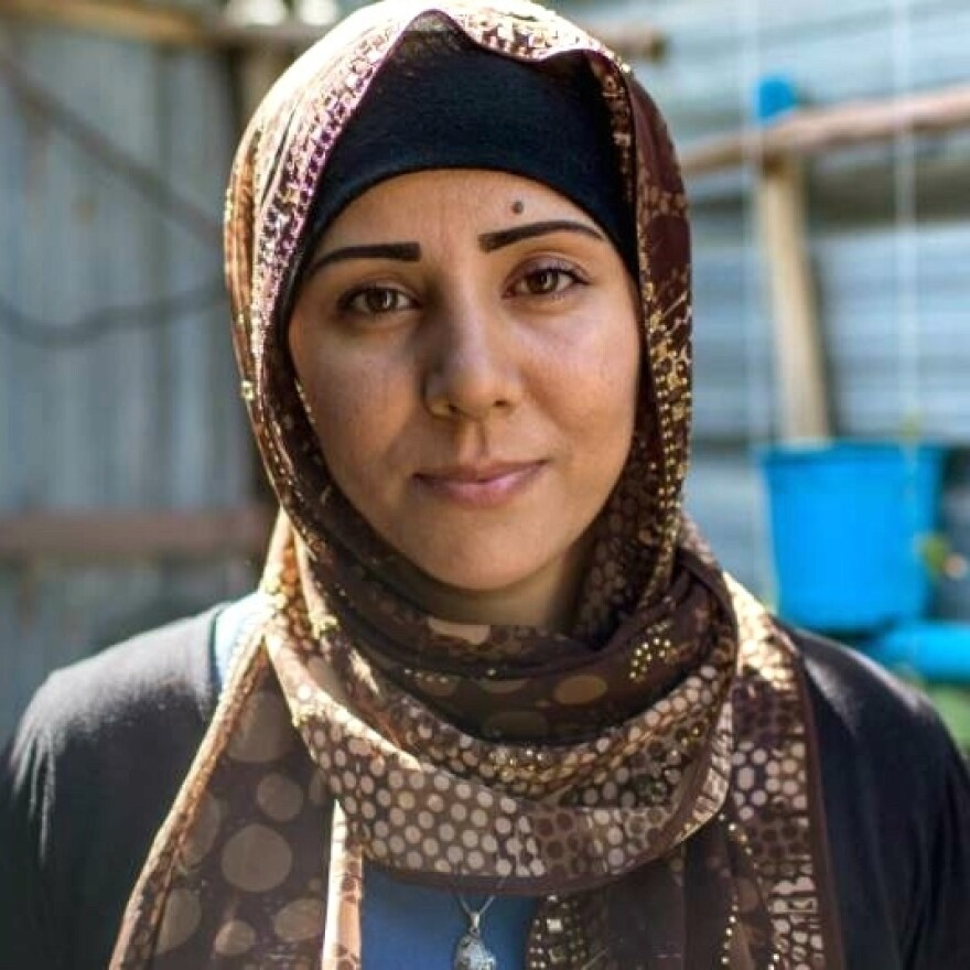 Aveen Ismail fled to the camp from Damascus with her family in 2011.