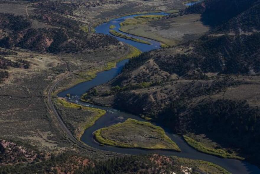 The Colorado River gets its start in the Rocky Mountains, and flows through small farm and ranch communities in Colorado's high country.