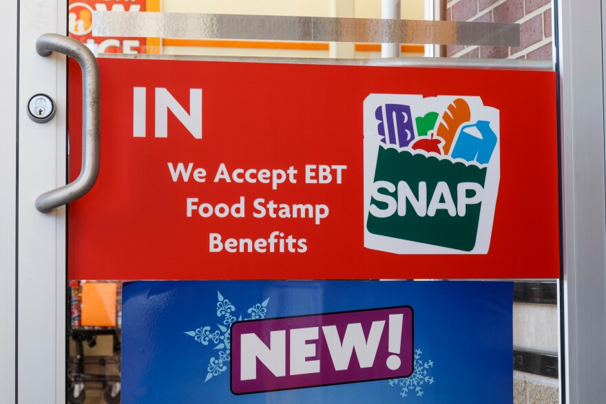 a photo of of a SNAP sign