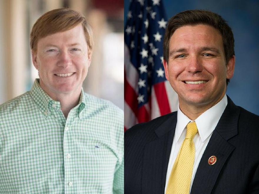 Agriculture Commissioner Adam Putnam (left) and Congressman Ron DeSantis (right).