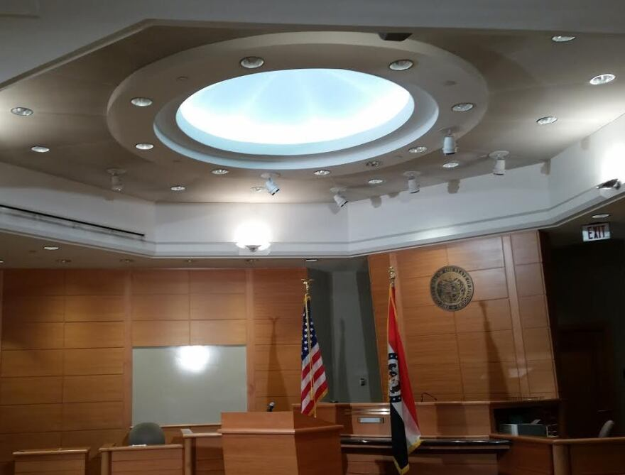 One of two courtrooms in the St. Louis County Justice Center. Taken 11-24-14