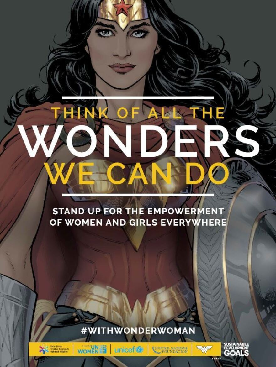 U.N. officials worked with artists to design a modestly garbed version of Wonder Woman for her role as honorary ambassador for the empowerment of women and girls.