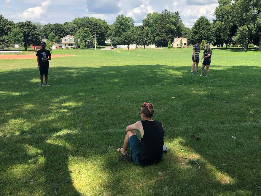 The QuTheatr rehearses