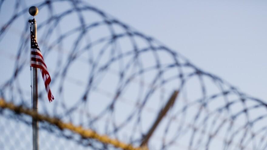 Outside the U.S. detention center at Guantanamo Bay, Cuba.