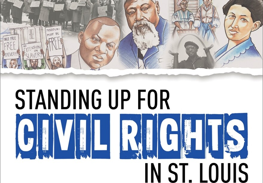 "This is a portion of the cover of the new ""Standing Up for Civil Rights"" book for children."