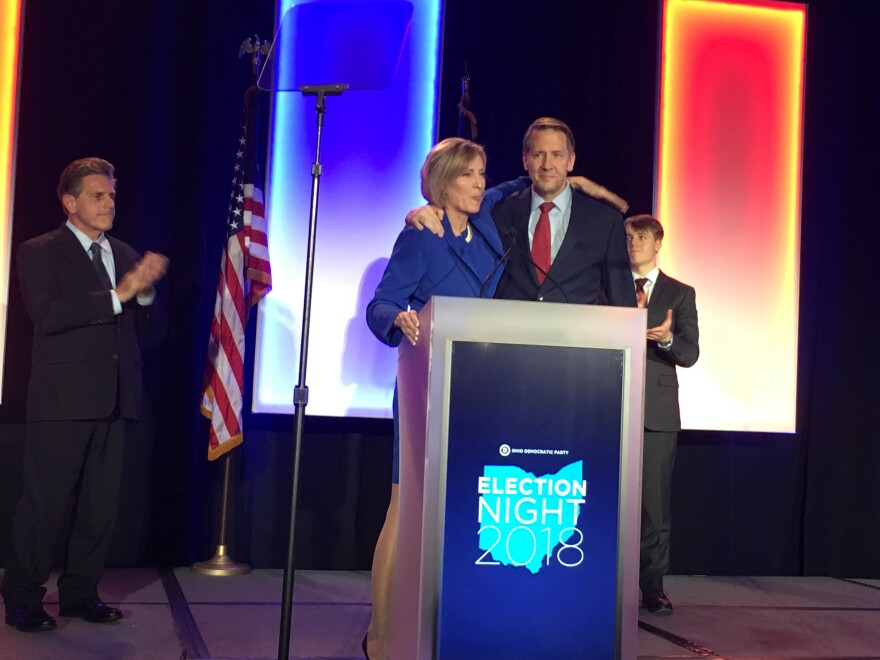 Photo of Richard Cordray and Betty Sutton
