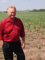Larry Sailer on his corn and soybean farm, just north of Iowa Falls, Iowa.