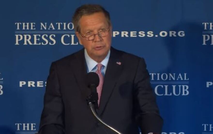 Kasich speaks at the National Press Club
