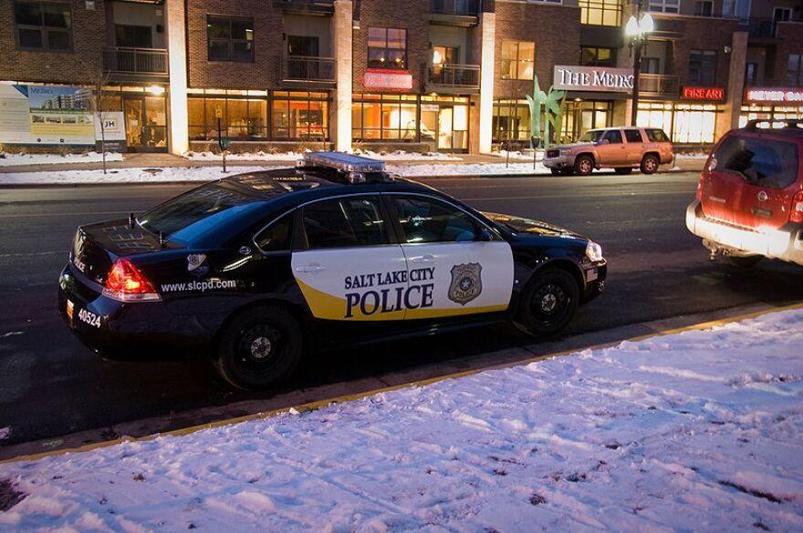 Photo of Salt Lake City Police Car.