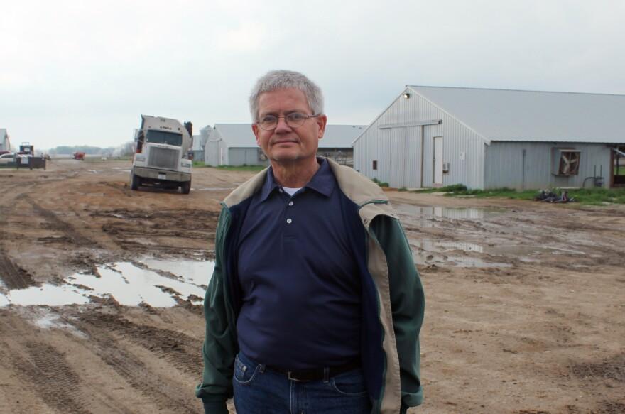 Farmer Bill Bevans raises nearly a million chickens and turkeys on his farm each year.