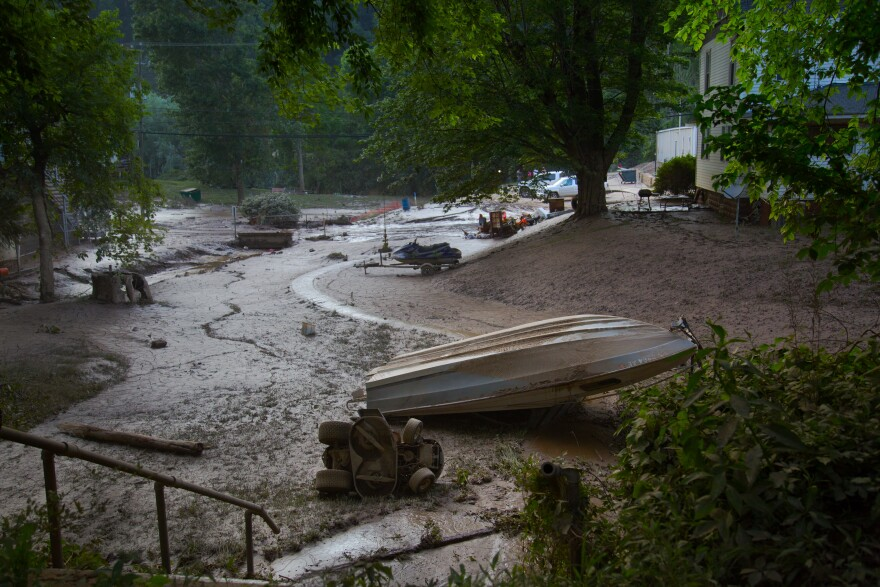 The aftermath of flooding that occured in June 2016, in Clendenin, W.Va.