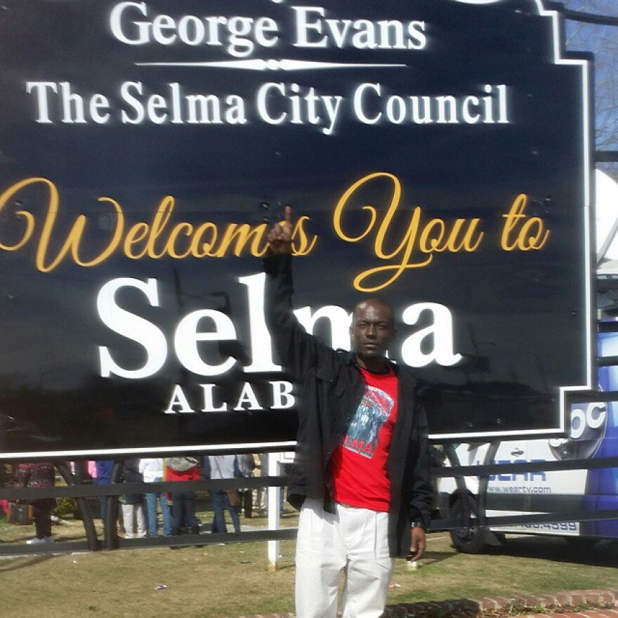 "David Royal in Selma, Ala. for the 50th anniversary of ""Bloody Sunday"" at the Edmund Pettus Bridge"