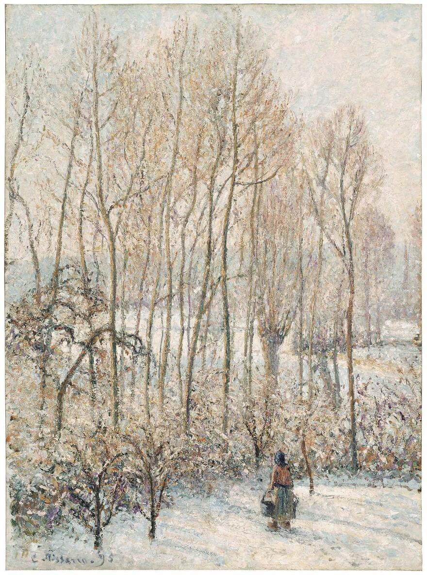 Camille Pissarro, <em>Morning Sunlight on the Snow</em>, Eragny-sur-Epte, 1895