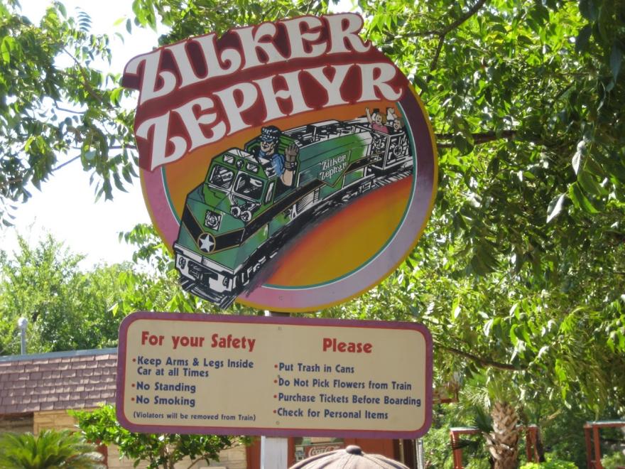 The Zilker Zephyr is a miniature train that ran through Zilker Park.