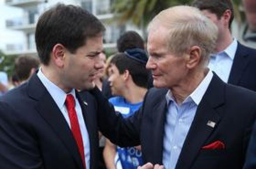 Sen. Marco Rubio (R-FL), left, and Sen. Bill Nelson (D-FL)