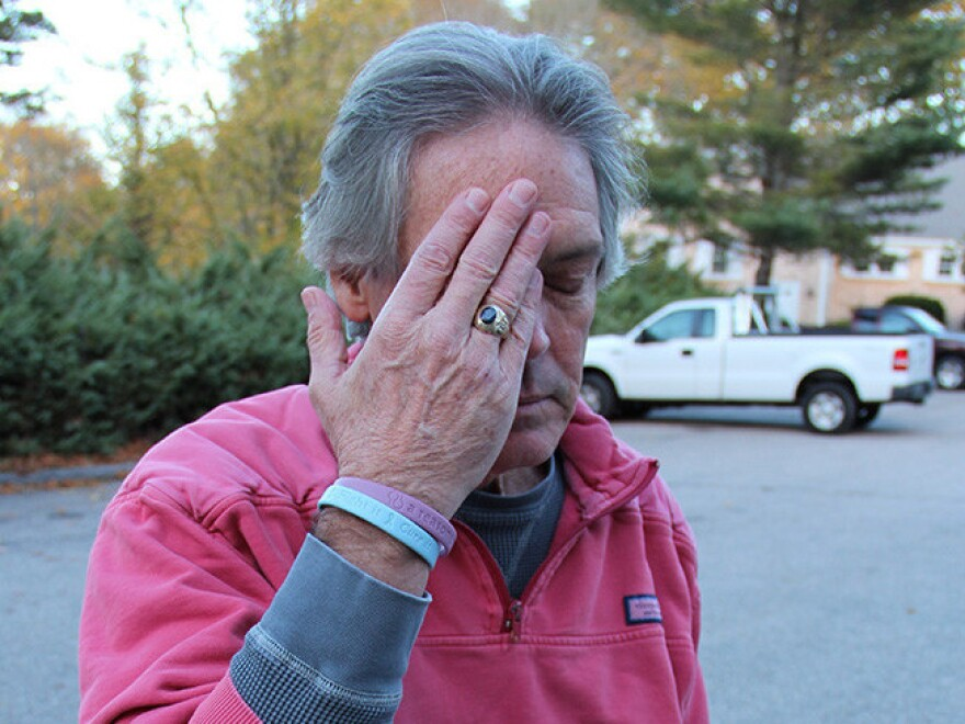 "Greg O'Brien gathers his thoughts before a run in 2013. ""Running is essential,"" he says."