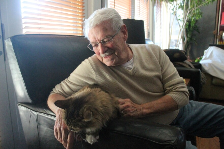 Richard Eaton and his husband John Durnell share their home with four cats and two dogs.