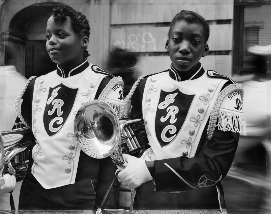 <em>Two Girls from a Marching Band, Harlem, NY,</em> 1990, courtesy of the artist, Sean Kelly Gallery, Stephen Daiter Gallery, and Rena Bransten Gallery