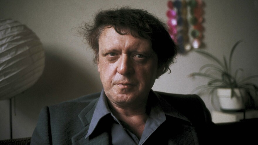 Anthony Burgess poses for a photograph in 1973, two years after the release of the film adaptation of <em>A Clockwork Orange</em> — and right around the time he was working on the recently unearthed manuscript.