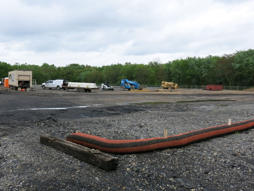 Part of the old coal power plant site in Shamokin Dam, Pa., will house a marijuana growing facility, slated to start operating next year.
