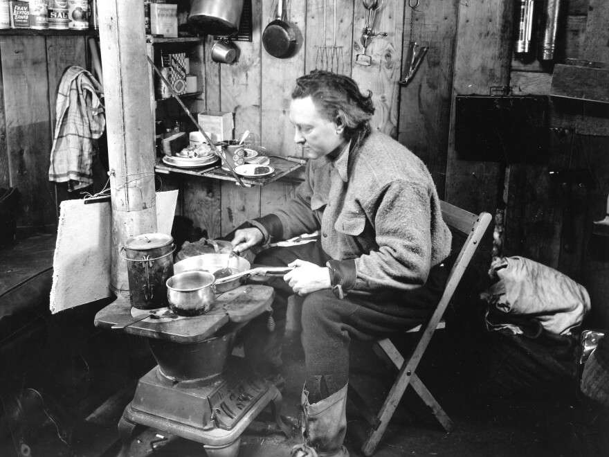 Adm. Richard Byrd at the Advance Base in 1934. The American decided to spend a few Antarctic months alone with his thoughts there. Bad idea: He didn't really know how to cook, author Jason Anthony writes, and his stove and generator gave him carbon monoxide poisoning.