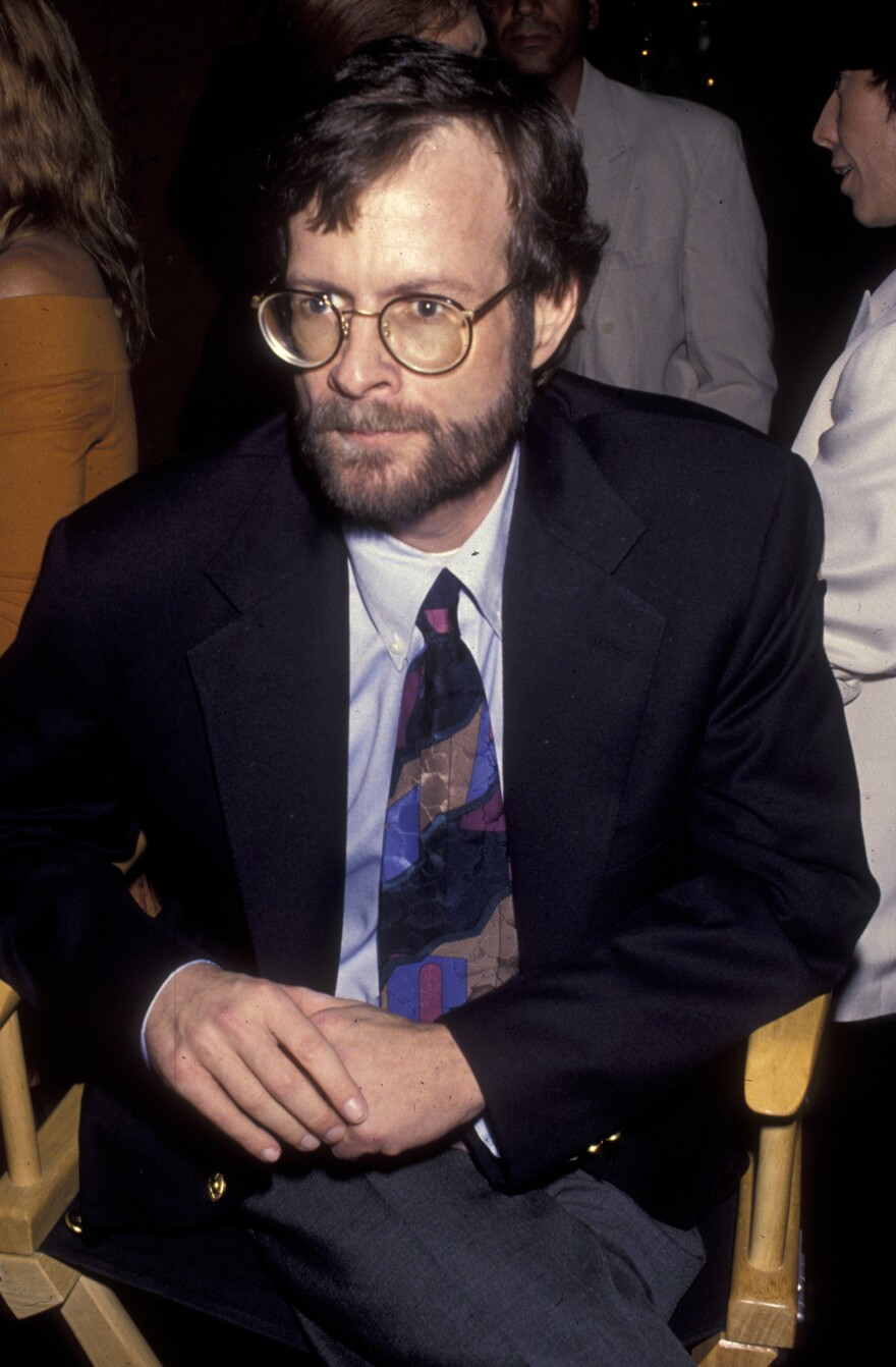 Randy Shilts attended a screening of <em>And the Band Played On</em> on Aug. 31, 1993, at the Academy Theater in Beverly Hills, Calif.