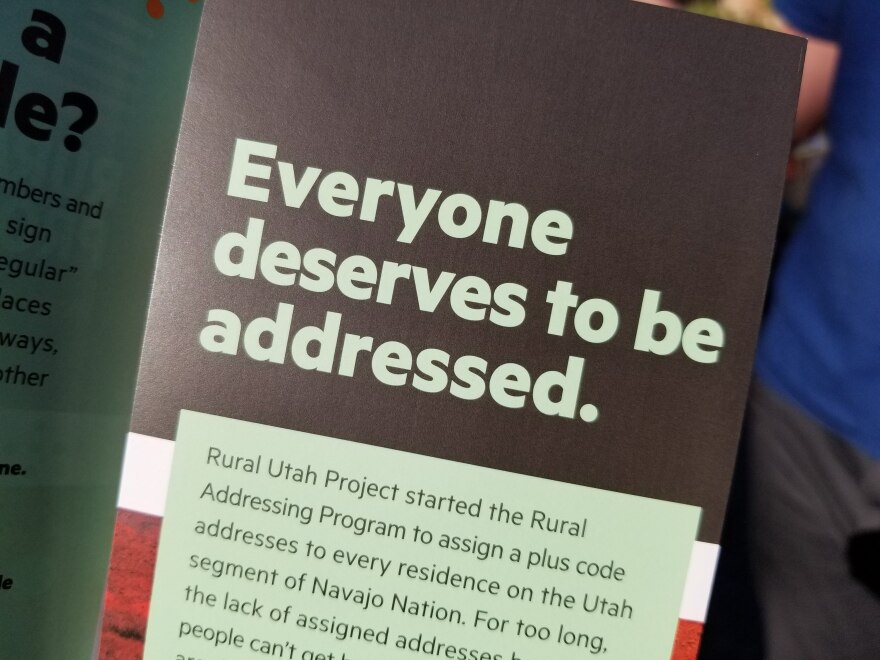 Photo of Rural Utah Project pamphlet.