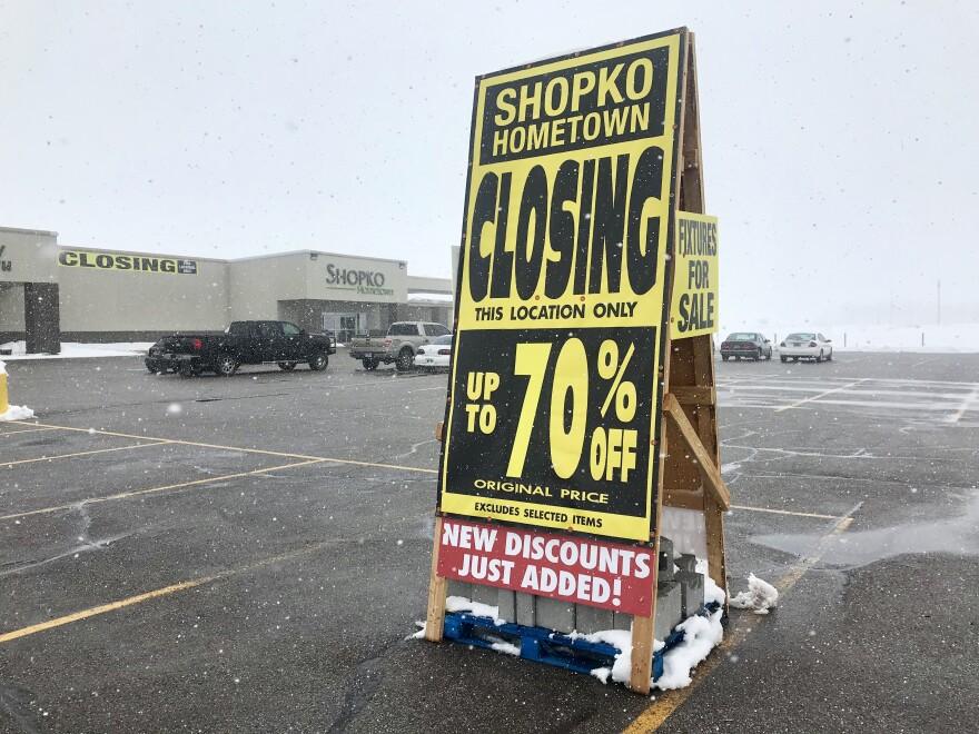 Photo of closed Shopko.