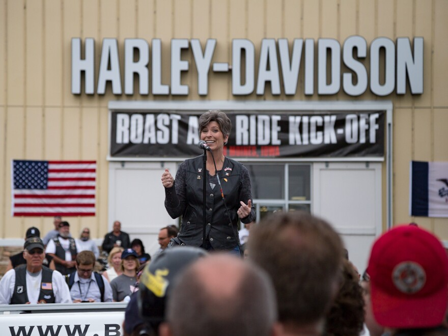 Ernst welcomes riders at the Harley-Davidson Barn for her second annual Roast and Ride fundraiser.