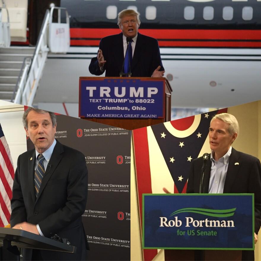 Sherrod Brown, Rob Portman, Donald Trump