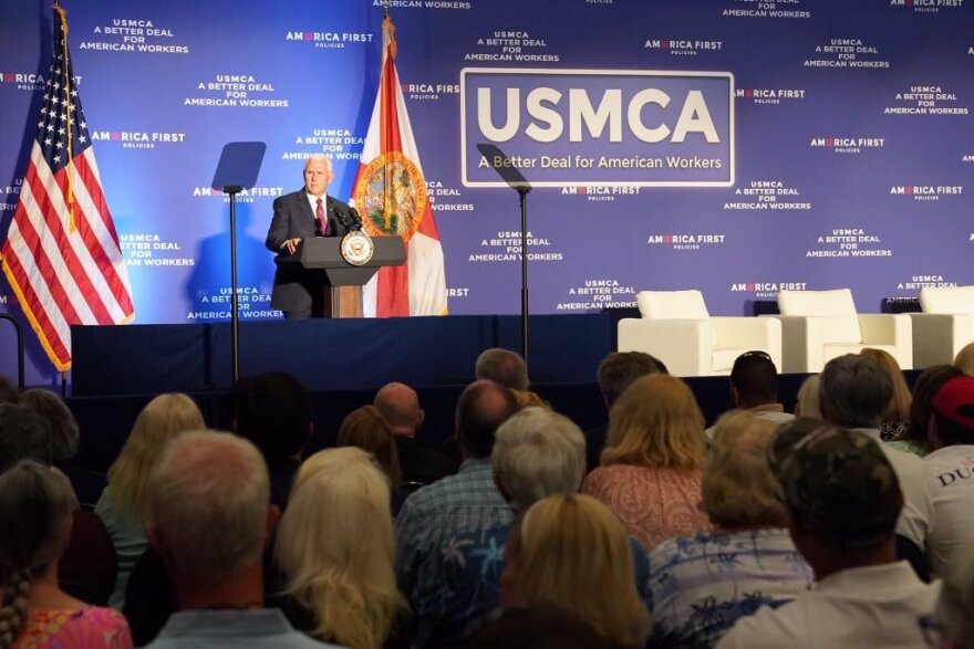 Mike Pence speaks at rally for USMCA
