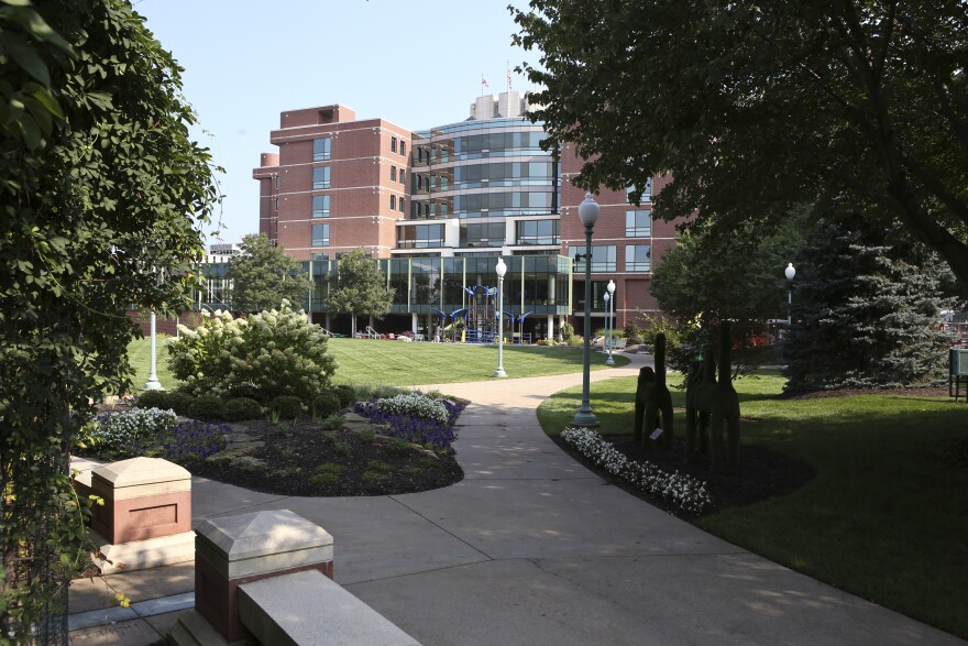 A photo of Akron Children's Hospital main campus