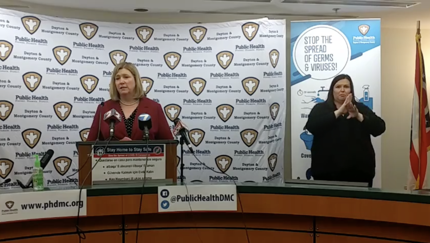 Dayton Mayor Nan Whaley at the April 16 public health press conference.