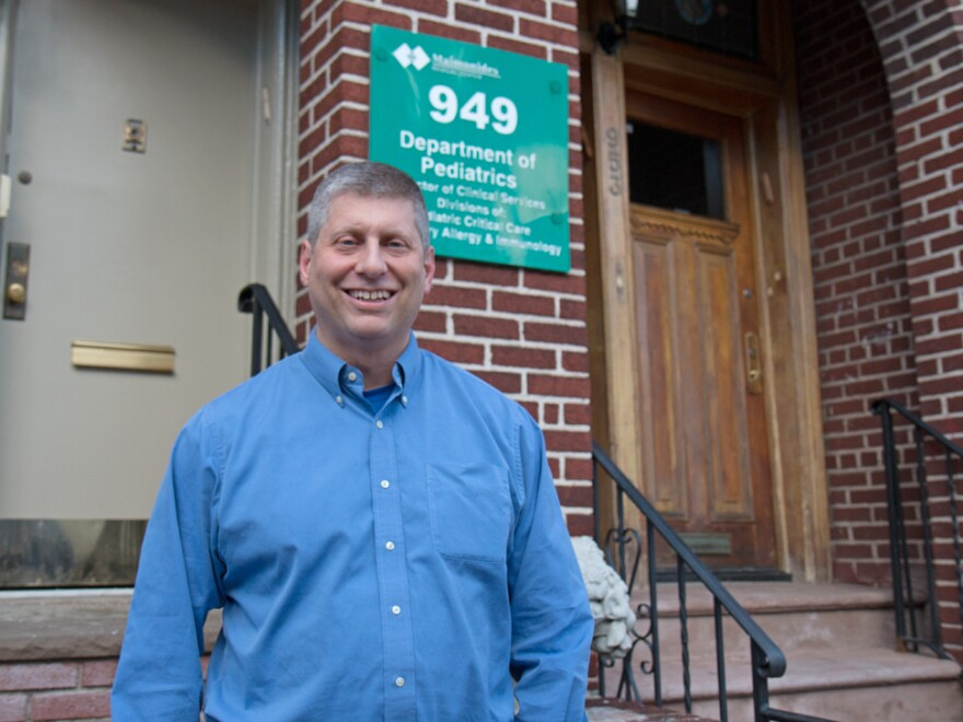 Dr. Joshua Needleman, a specialist in pediatric pulmonology, outside his office in Brooklyn, N.Y.
