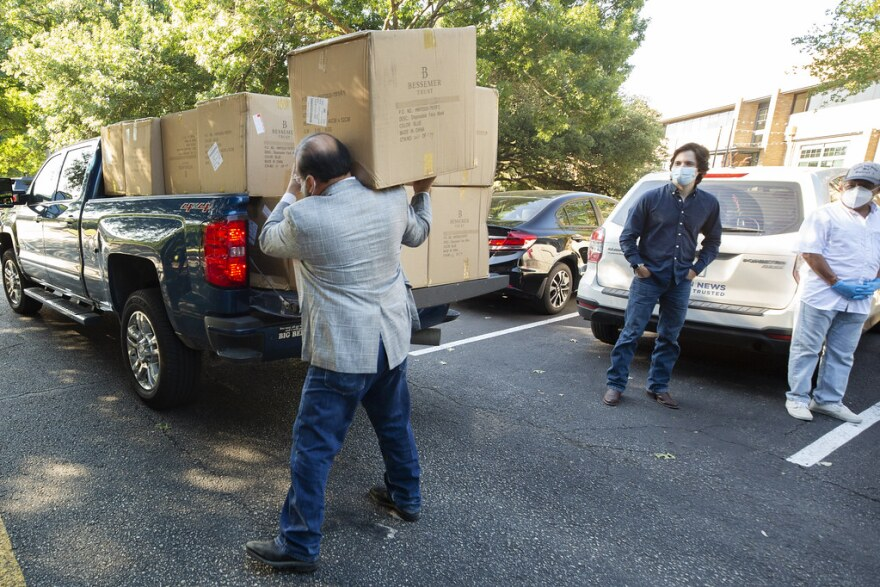 Thousands of donated masks were dropped off at the Mexican consulate Monday to be distributed to construction workers in Austin.
