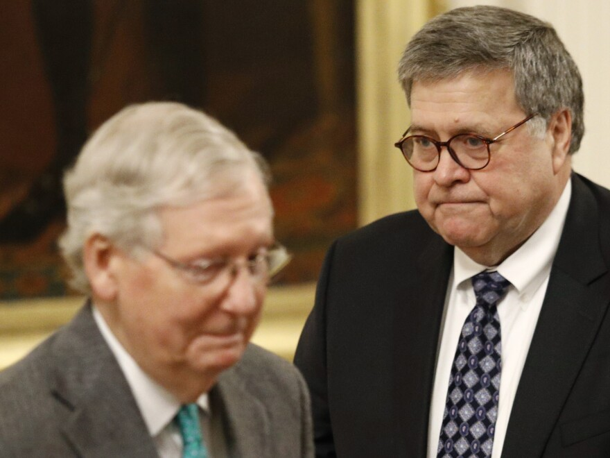 Senate Majority Leader Mitch McConnell and Attorney General William Barr support passage of now-lapsed surveillance authorities. Debate is expected soon in the Senate.