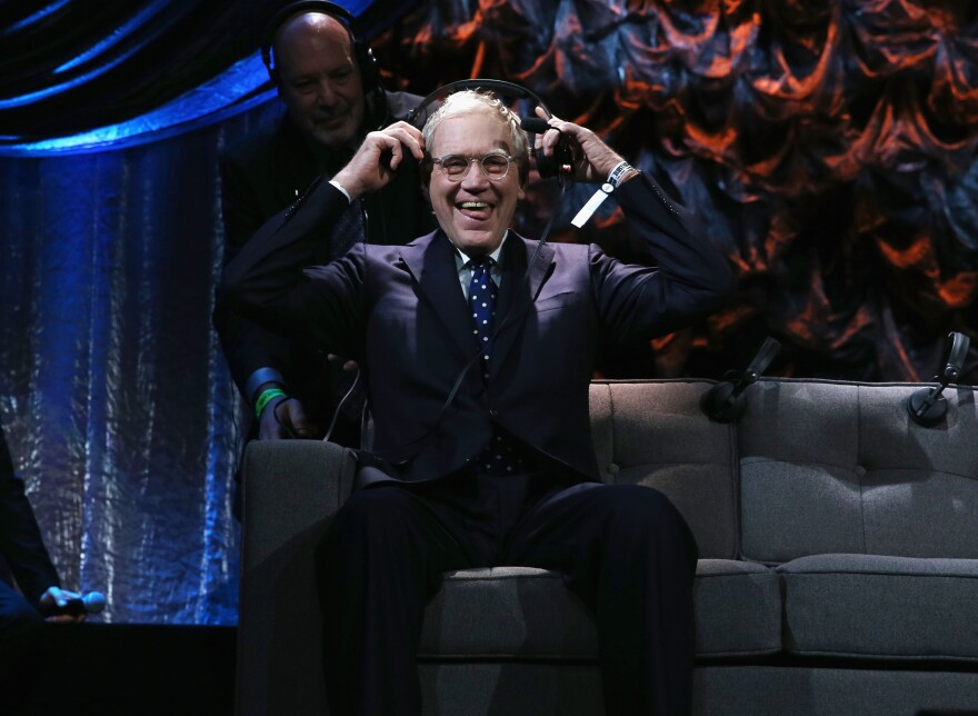 "David Letterman attends ""Howard Stern's Birthday Bash"" presented in January."