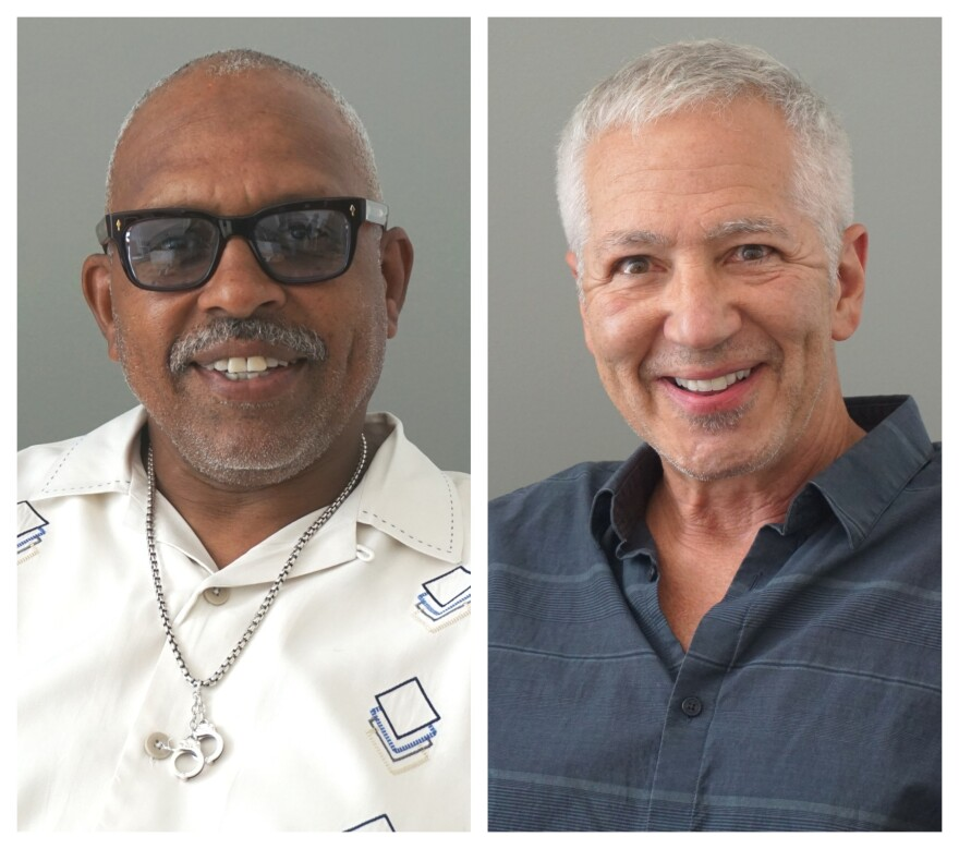Lt. Col. Ronnie Robinson (left) is with the St. Louis Metropolitan Police Department, and Richard Rosenfeld is a professor emeritus of criminology and criminal justice at the University of Missouri St. Louis.