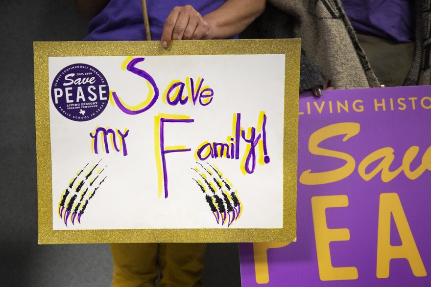 Save Pease signs