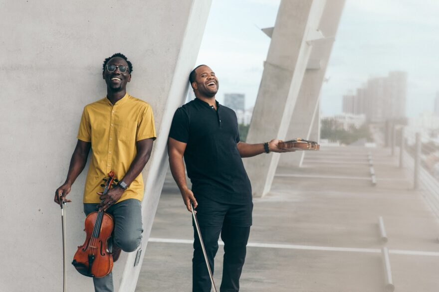 """Hip-hop duo Black Violin's new album is called """"Take The Stairs."""" (Mark Clennon)"""