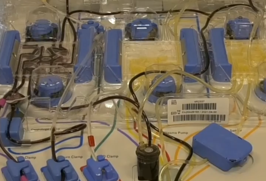 Machine used to transfuse plasma