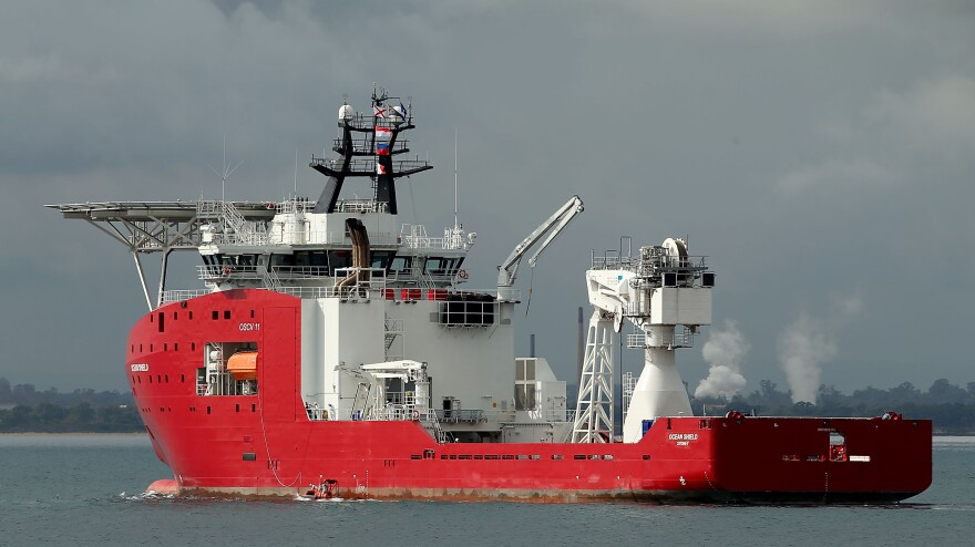 The Australian ship Ocean Shield, seen here earlier this month, has been ordered back to its dock, after a search for the black boxes of a missing Malaysian airliner ended without finding anything.