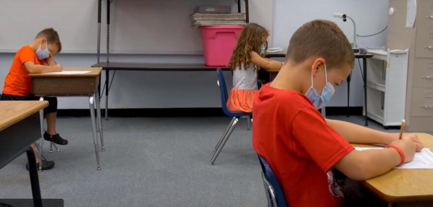 Schools_socially distant kids