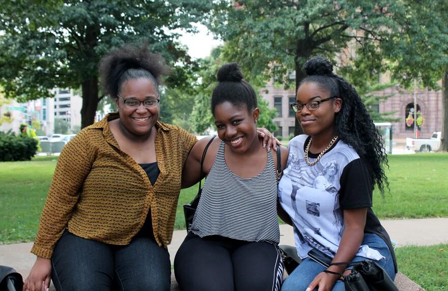 Melvina Chaney, Keelah Washington and Danaya Burnett are upperclassmen at Southern Illinois University-Edwardsville.