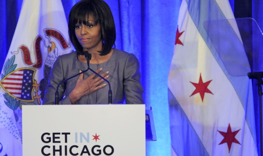 First lady Michelle Obama on Wednesday speaks about 15-year-old Hadiya Pendleton, who was shot and killed on the South Side of Chicago earlier this year.