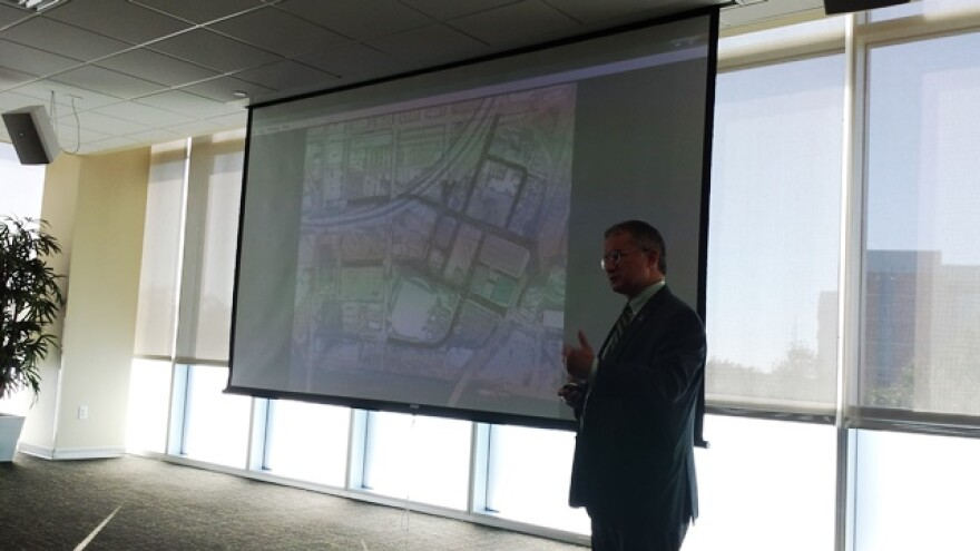 USF Health Sr. VP Dr. Charles Lockwood presents the plan to build a new College of Medicine in downtown Tampa to the USF Board of Trustees